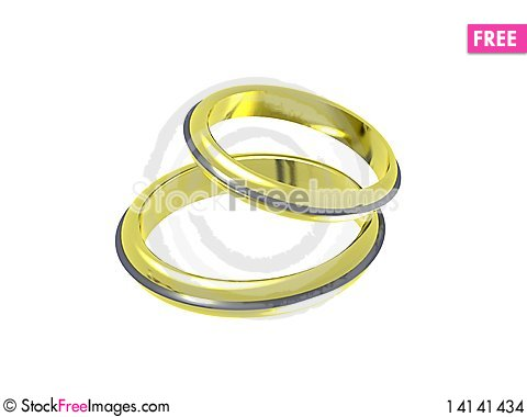 Free Wedding Rings With Diamonds Stock Images - 14141434