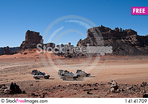 Free Algeria Sahara Mountains Landscape Royalty Free Stock Images - 14141709