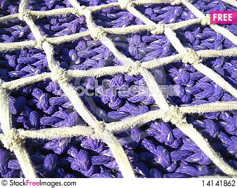 Free Blue Fishing Net Stock Photography - 14141862