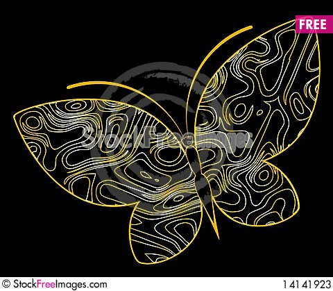 Free Abstract Butterfly Stock Photos - 14141923