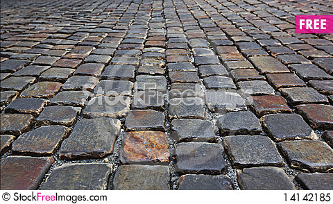 Free Background With Cobblestone Road Royalty Free Stock Photo - 14142185