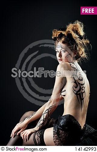 Free Gothic Woman Stock Photos - 14142993