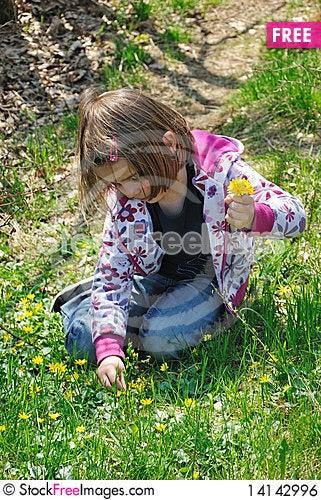 Free I M Picking Flowers Royalty Free Stock Image - 14142996