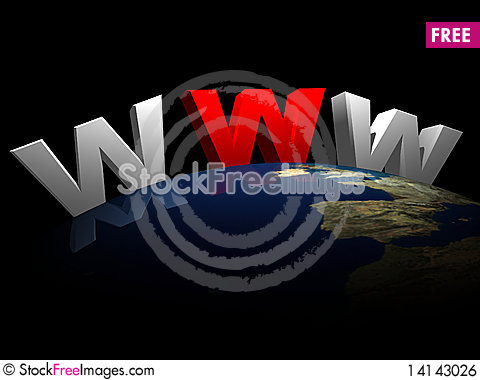 Free Www   With Earth Royalty Free Stock Image - 14143026