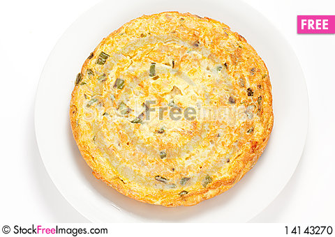 Free Potato Omelette With Olive Oil And Green Pepper Stock Photo - 14143270