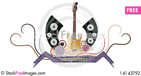 Free Abstract Guitar Stock Photography - 14143792
