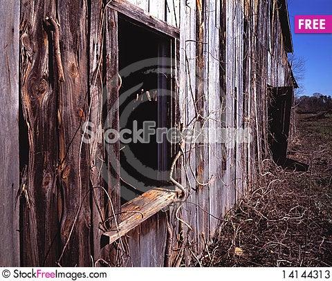 Free Weathered Old Tobacco Barn In North Carolina Stock Photos - 14144313