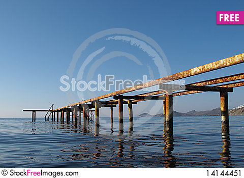 Free Old Rusty Wharf Stock Image - 14144451