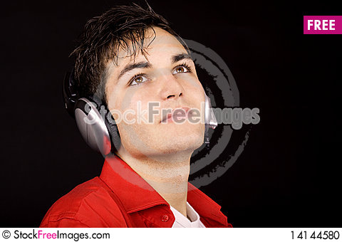 Free Young Man With Headphones Stock Photo - 14144580