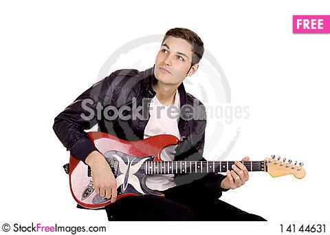 Free Young Guitarist Stock Image - 14144631