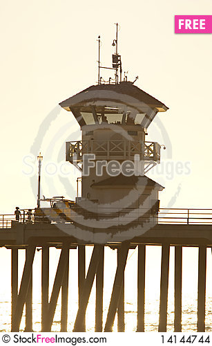 Free Huntington Beach Watchtower Stock Images - 14144744