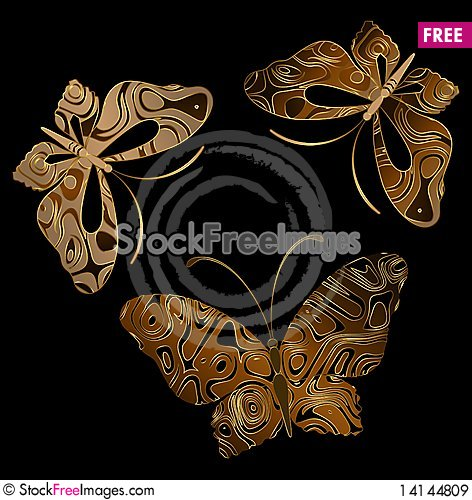 Free Background With  Butterflies Royalty Free Stock Images - 14144809