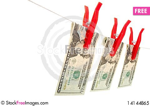 Free Money On The Line Royalty Free Stock Photo - 14144865
