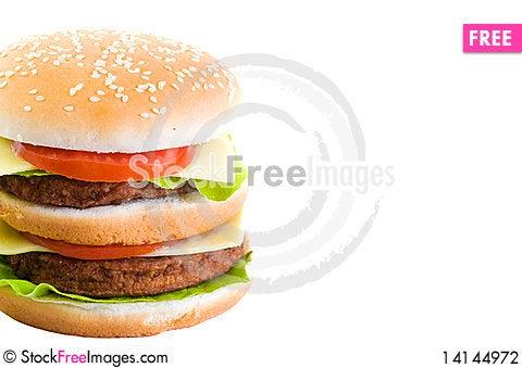 Free Huge Burger Stock Photography - 14144972