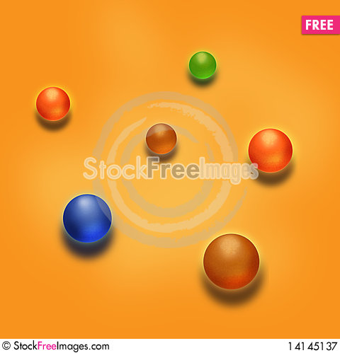 Free Colorful Marbles Royalty Free Stock Photography - 14145137