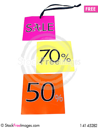 Free Sale Labels Stock Photography - 14145282