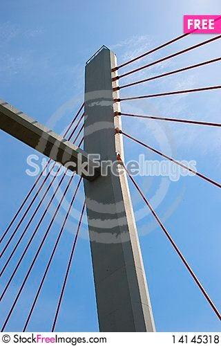 Free Suspension Bridge Pillar Royalty Free Stock Photos - 14145318