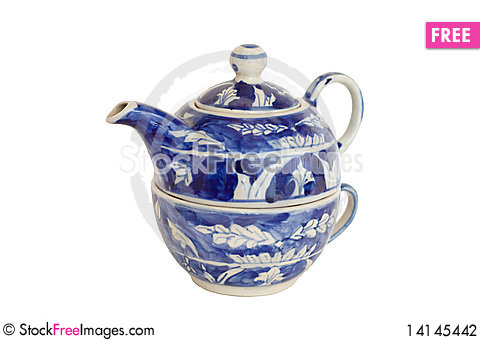 Free Nested Chinese Teapot And Cup Stock Photography - 14145442