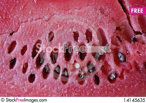 Free Watermelon Cut Texture Royalty Free Stock Photo - 14145635