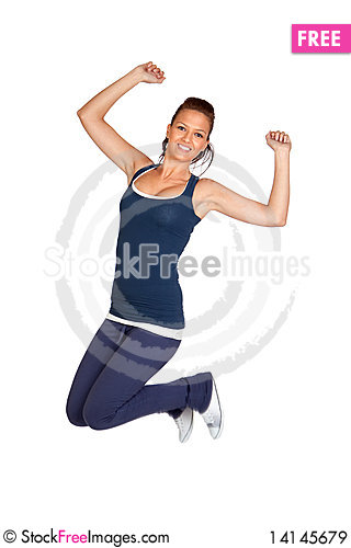 Free Attractive Girl Jumping Royalty Free Stock Images - 14145679