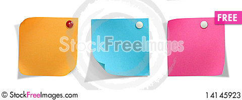 Free Brightly Colored Stickers Stock Photos - 14145923