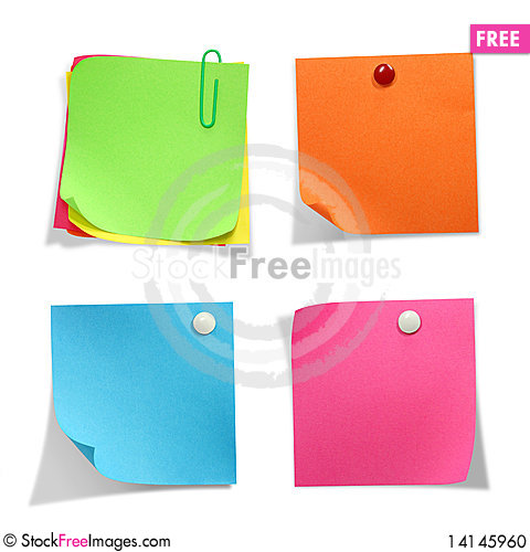 Free Brightly Colored Stickers Stock Photo - 14145960