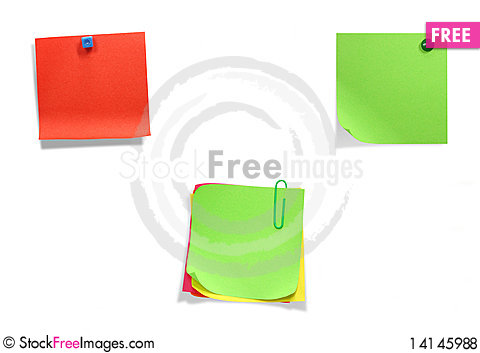 Free Brightly Colored Stickers Royalty Free Stock Photos - 14145988