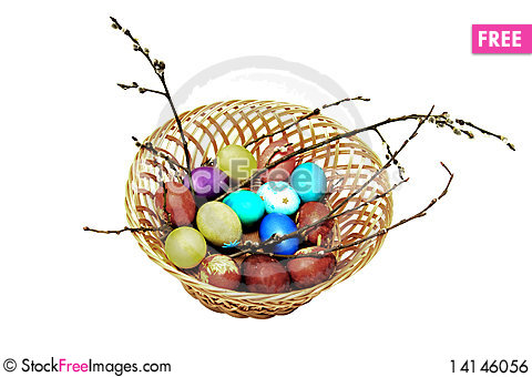 Free Easter Eggs Royalty Free Stock Image - 14146056