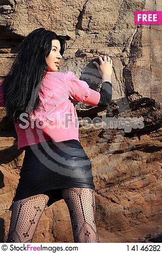 Free Lovely Brunette Stock Photography - 14146282