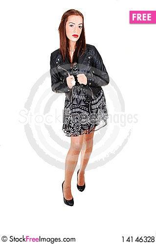 Free Girl With Black Jacket. Royalty Free Stock Photos - 14146328