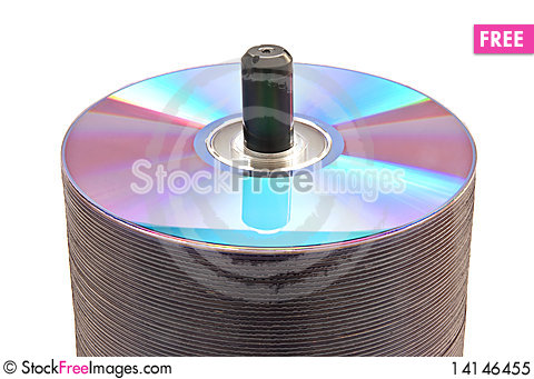 Free Disks On A Spindle Royalty Free Stock Photo - 14146455