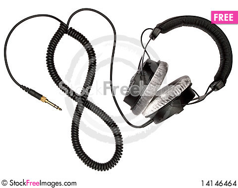 Free Headphones And Cord Stock Images - 14146464