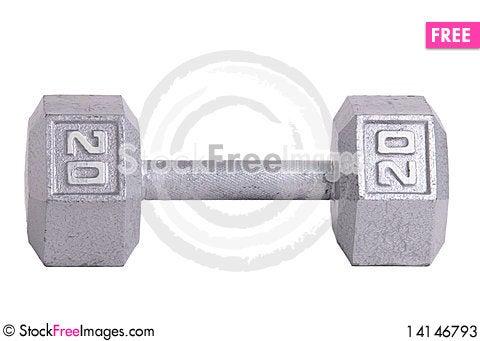 Free Twenty Pound Metal Dumbbell Stock Photos - 14146793