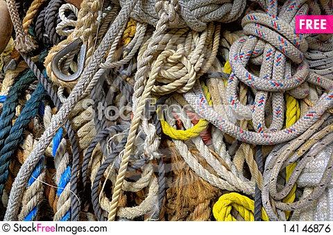 Free Sailing Line & Rope Royalty Free Stock Image - 14146876