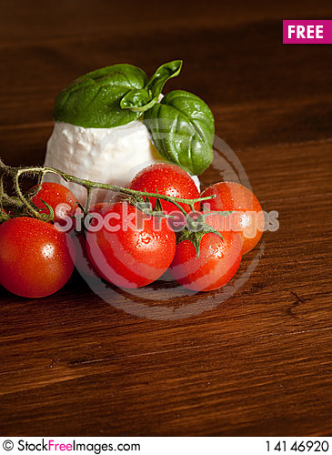 Free Ricotta With Tomatoes Stock Photo - 14146920