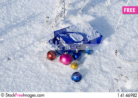 Free Christmas Balls Stock Photography - 14146982