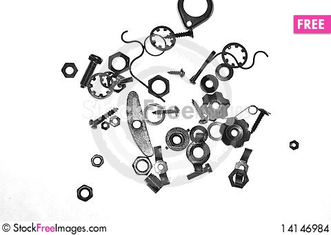 Free Nuts, Bolts And Screws Stock Images - 14146984