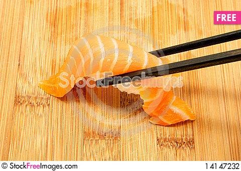 Free Nigiri And Chopsticks Stock Photography - 14147232