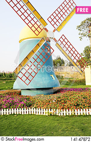 Free The Windmill On Garden Stock Photography - 14147872