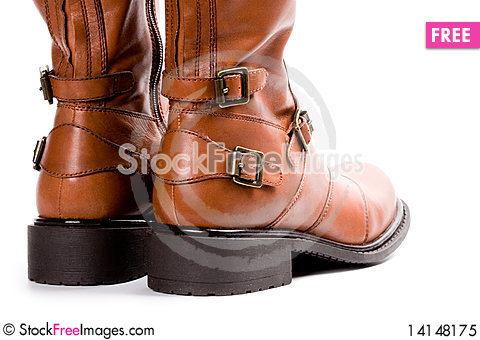 Free Pair Of Brown Boots Royalty Free Stock Photo - 14148175