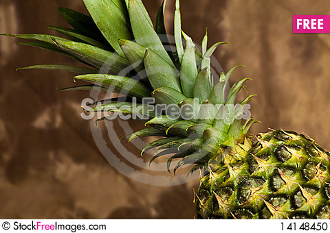 Free Pineapple On Wood Table Stock Photo - 14148450