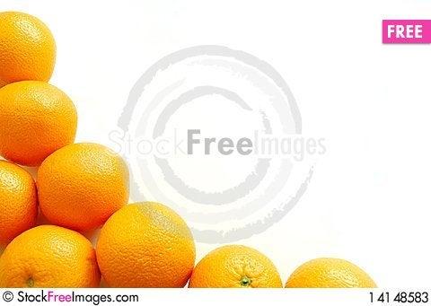 Free Oranges Forming A Fruit Frame Stock Photos - 14148583