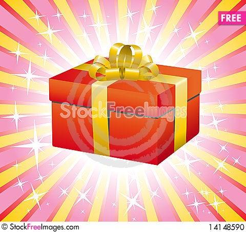 Free Red Gift Box Stock Photo - 14148590
