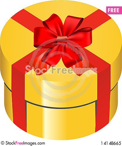 Free Gold Gift Box Royalty Free Stock Photo - 14148665