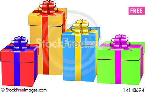 Free Gift Box Set Stock Images - 14148694
