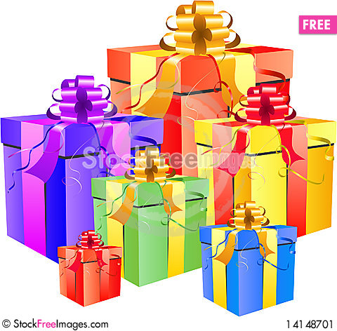 Free Gift Box Set Stock Image - 14148701