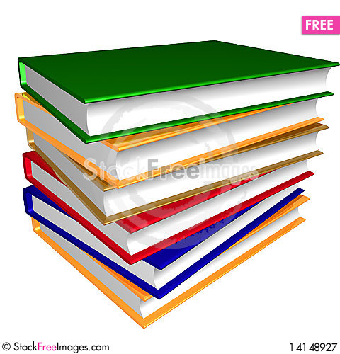 Free Thick Pile Of Colorful Books Royalty Free Stock Photography - 14148927