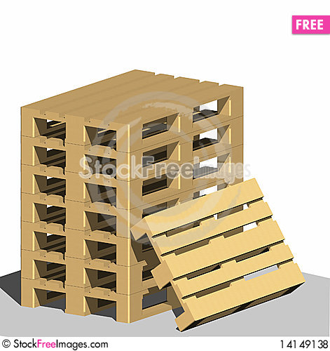Free Pallets Royalty Free Stock Photos - 14149138