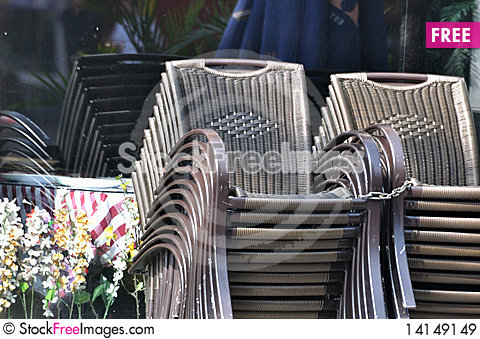 Free Folded Chairs Royalty Free Stock Images - 14149149