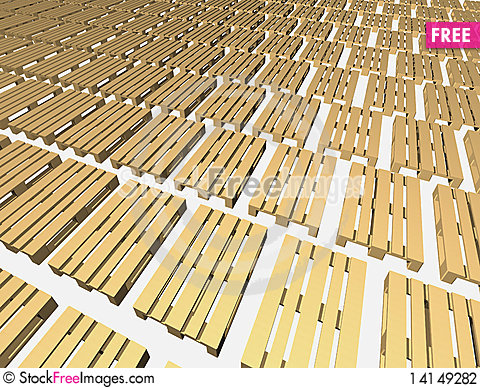 Free Warehouse Pallets. Stock Photography - 14149282